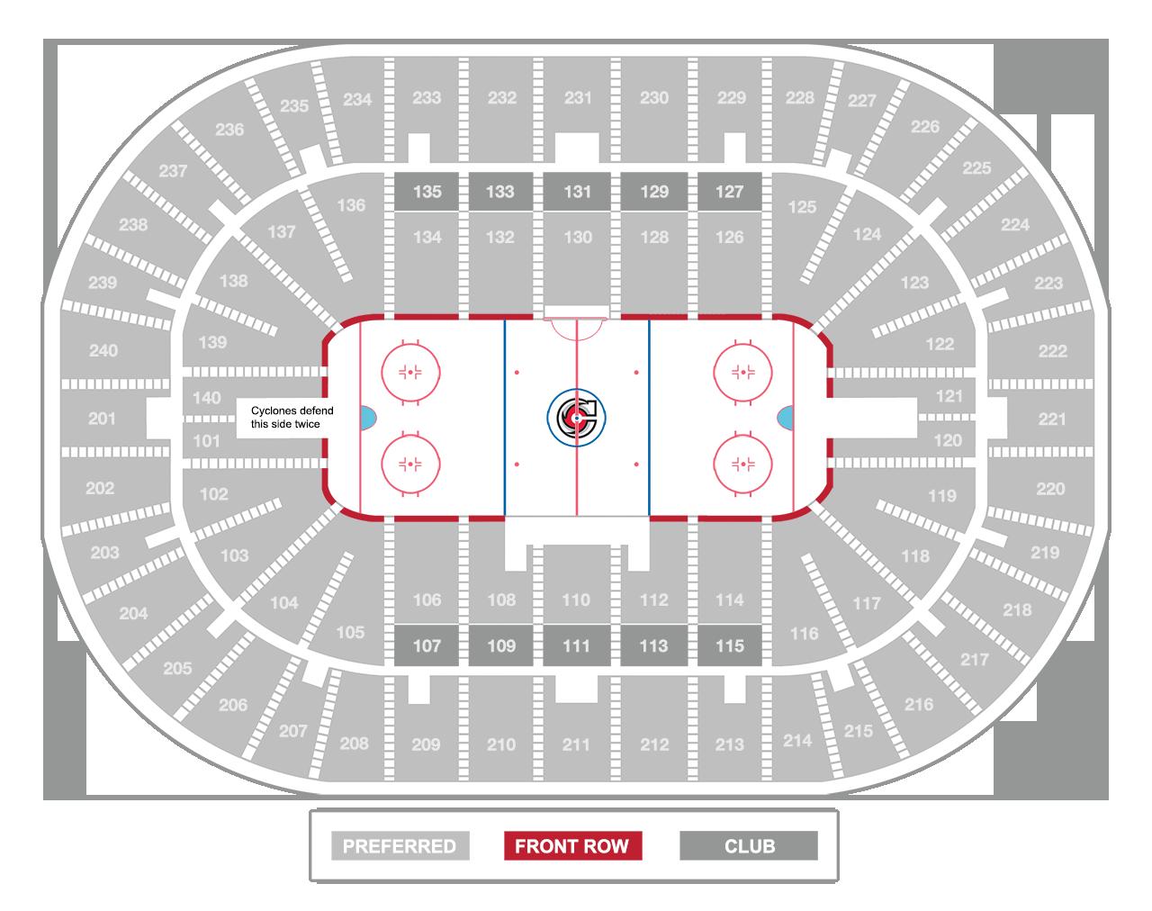 US Bank Arena Seating Charts - Map of us bank stadium